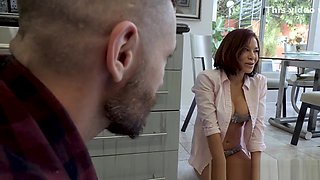 Flirty wife fucks with bro in law at the kitchen
