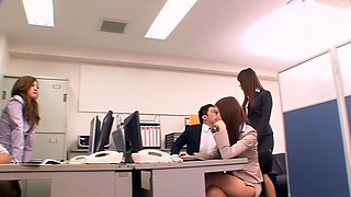 Hottest Japanese model Mika Nakagawa, Sena Ayumu, Itsuki Kitagawa, Anzu Mukai in Exotic group sex, office JAV video