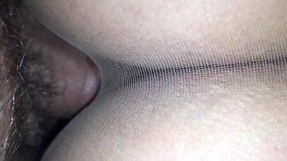 POV fuck trough pantyhose