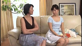 Luscious Japanese housewives embark on a lesbian adventure