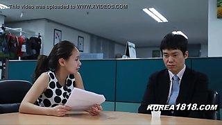 Korean office milf