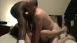Mature cuckold couple has a threesome with a black guy