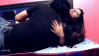 Desi short film big booby sexy girls hot smooching romance on bed