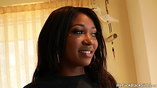 Ebony adult actress Skyler Nicole gives an interview