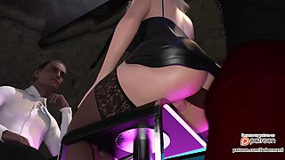3d animation surprise anal at club (1080p)