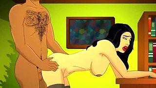Superb Indian MILF Cartoon Porn Animation