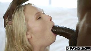 BLACKED Monster Black Cock Creampies Blonde Teen Dakota Jame