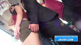 Slutty Asian Babe Fucked On The Public Bus