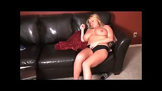 Brandy taylore captured, put to sleep and playing her big boobs
