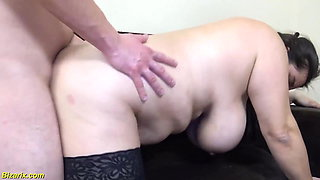 first rough fist fuck with bbw stepsis
