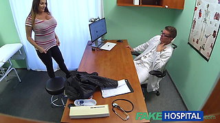 FakeHospital Babe wants doctors cum over her big huge tits