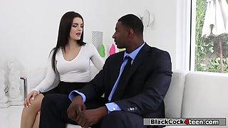 Bitch Babysitter Riding Her Black Boss