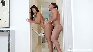 Bosomy PAWG Rose Monroe meets her stepson for the first time