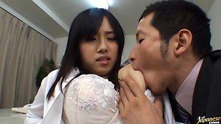 Azusa Nagasawa Asian babe is a busty teacher