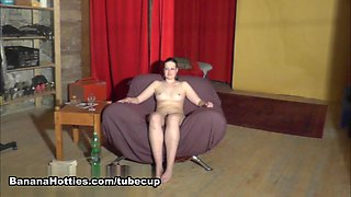 Czech girl hardcore anal fucked at the CASTING